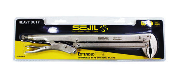 """Picture of Extended Long 90-Degree locking pliers 15"""""""